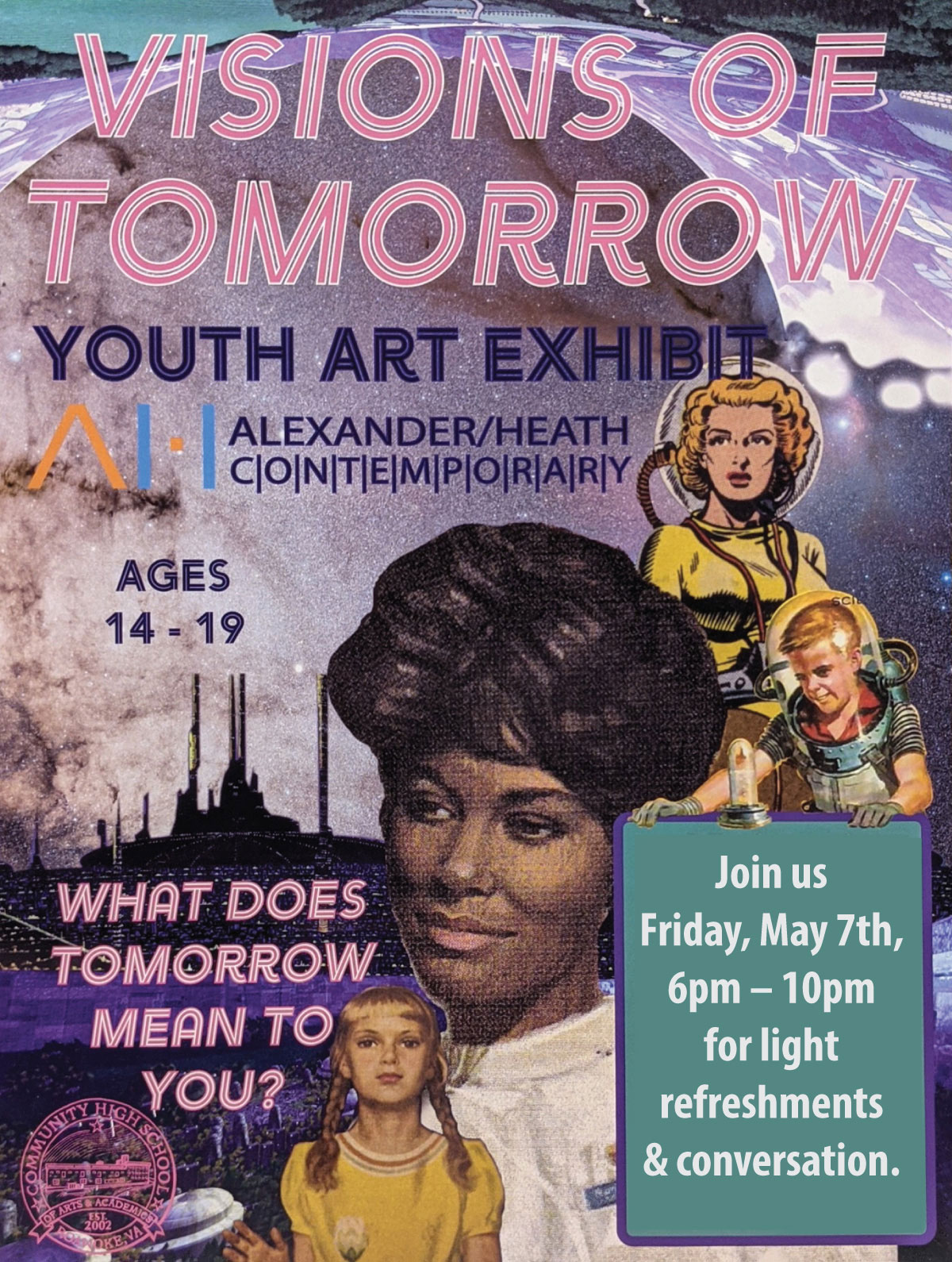 Visions of Tomorrow / Youth Art Exhibit / Alexander Heath Contemporary / Roanoke, Virginia